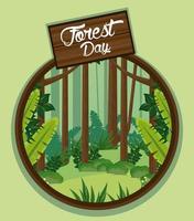 paesaggio per la celebrazione del giorno della foresta