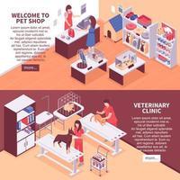 striscioni negozio di animali vettore
