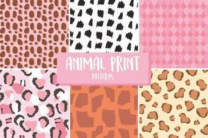 modelli di stampa di pelle animale vettore