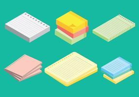 Icone gratis di blocco note vettoriale
