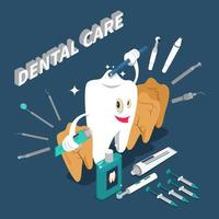 stomatologia odontoiatria cure odontoiatriche concetto isometrico vettore