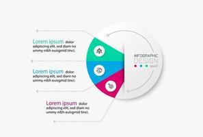 diagramma rotondo per presentazione infografica