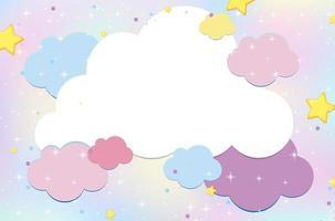 sfondo magico cielo nuvola pastello vettore