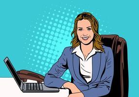 Un riuscito vettore femminile della persona di affari