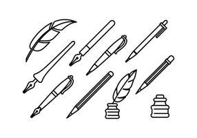 Set di icone vettoriali di scrittura gratuita