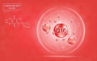 banner di salute del coenzima q10 vettore