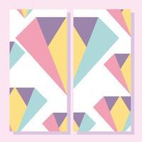 forme astratte. Cartello in stile geometrico memphis degli anni '80