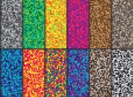 raccolta di sfondo pixel vettore