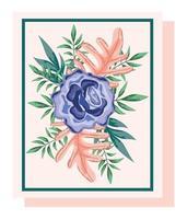 delicata composizione floreale per biglietto di auguri vettore