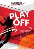 modello di progettazione flyer basket vettore