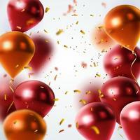 sfondo glitter coriandoli palloncino vettore