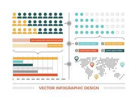 Elementi di vettore colorato infografica