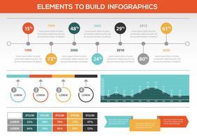 Retro elementi di vettore colorato infografica