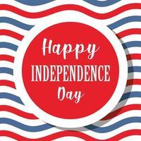 timbro sigillo giorno dell'indipendenza su sfondo a strisce