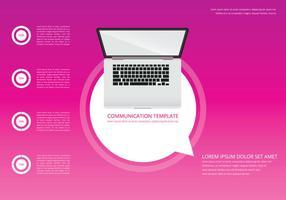 Rosa modello di illustrazione di comunicazione online vettore