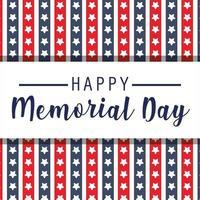 sfondo di stelle rosse e blu del memorial day