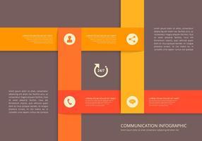 Modello di infografica di comunicazione connessa