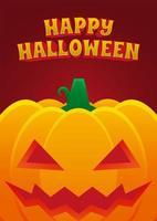 manifesto dell'evento di Halloween con zucca malvagia