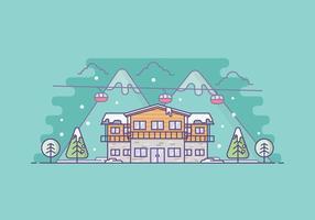 Illustrazione di resort invernale gratis