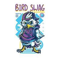 design della maglietta swag uccello