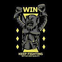 design tshirt combattente robot