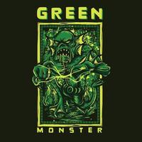 design tshirt mostro verde