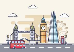 Illustrazione di paesaggio urbano di Londra vettore