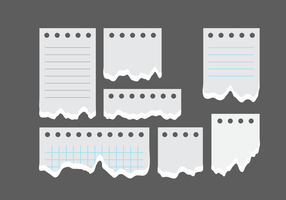 Note di blocchi di carta strappati