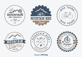 Distintivi di vettore di avventura bicicletta gratis