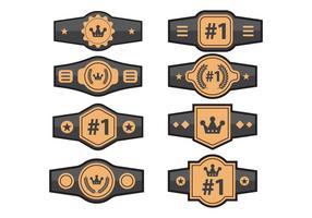 Set di vettori di cintura di campionato