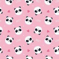 modello di faccia di panda rosa vettore