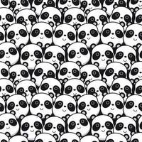 modello di faccia del panda vettore
