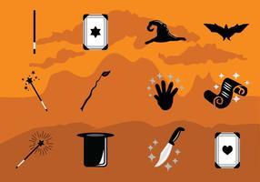 Collezione di icone magiche vettore