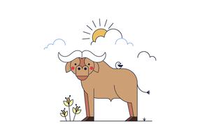 vettore di bufalo