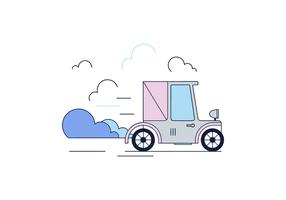 Vettore di auto compatta libera