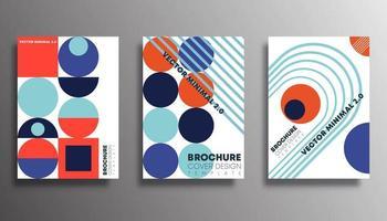 disegni di forma geometrica retrò per flyer, poster, brochure vettore
