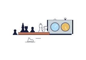 Vettore di partita di scacchi gratis