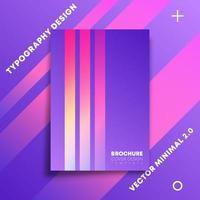 linee sfumate colorate luminose per flyer, poster, brochure vettore