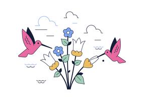 Vettore di colibrì