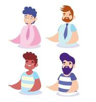 set di avatar di uomini vettore