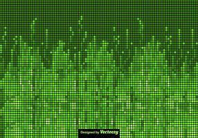 Schermo verde di vettore di sfondo tecnologico