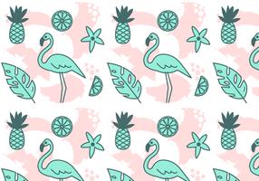 Tropical Pattern Vector gratuito