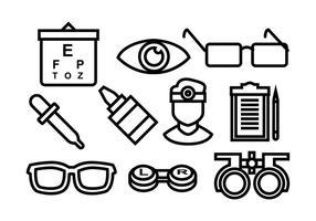 Icona di vettore del medico dell'occhio