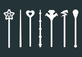Vettore libero delle icone del bastone magico