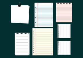 Vettori di raccolta di note in bianco