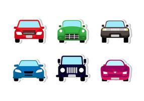 Disegno frontale dell'autoadesivo dell'automobile vettore