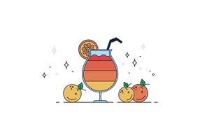vettore di succo d'arancia