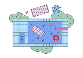 vettore di piscina
