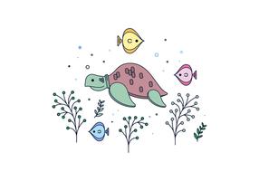 vettore di tartaruga marina