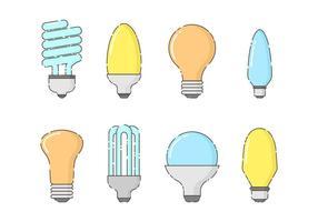 Set gratuito di lampadine vettoriale